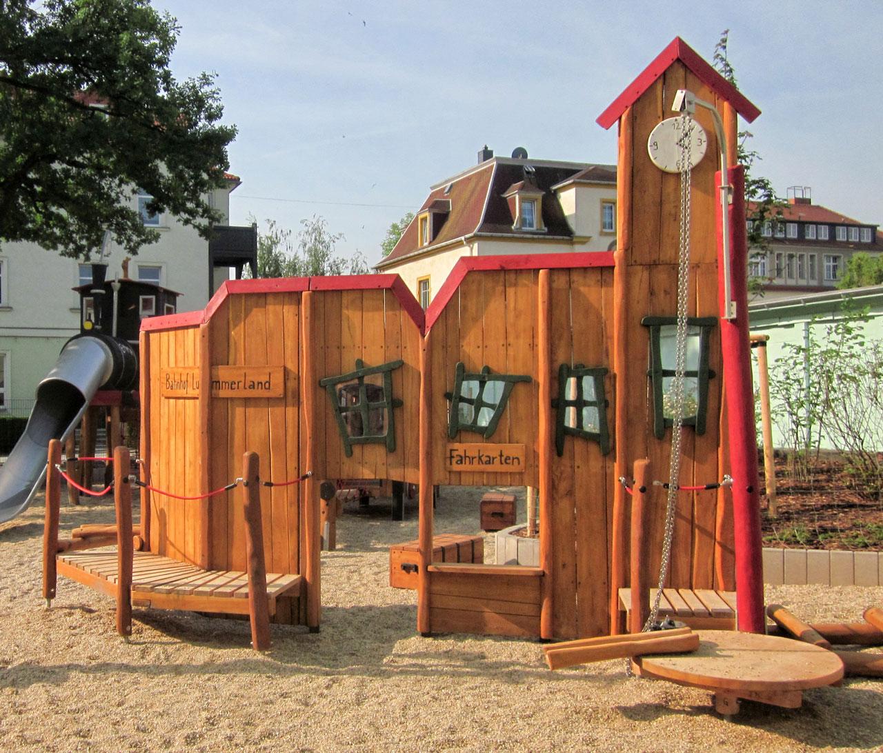 A 202 Spielanlage Themenspielplatz Bahnhofskulisse