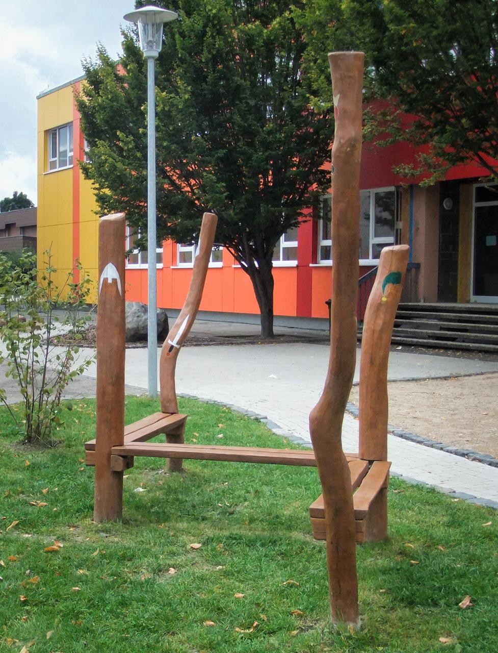 F 14 Bankkombination Holz Robinie