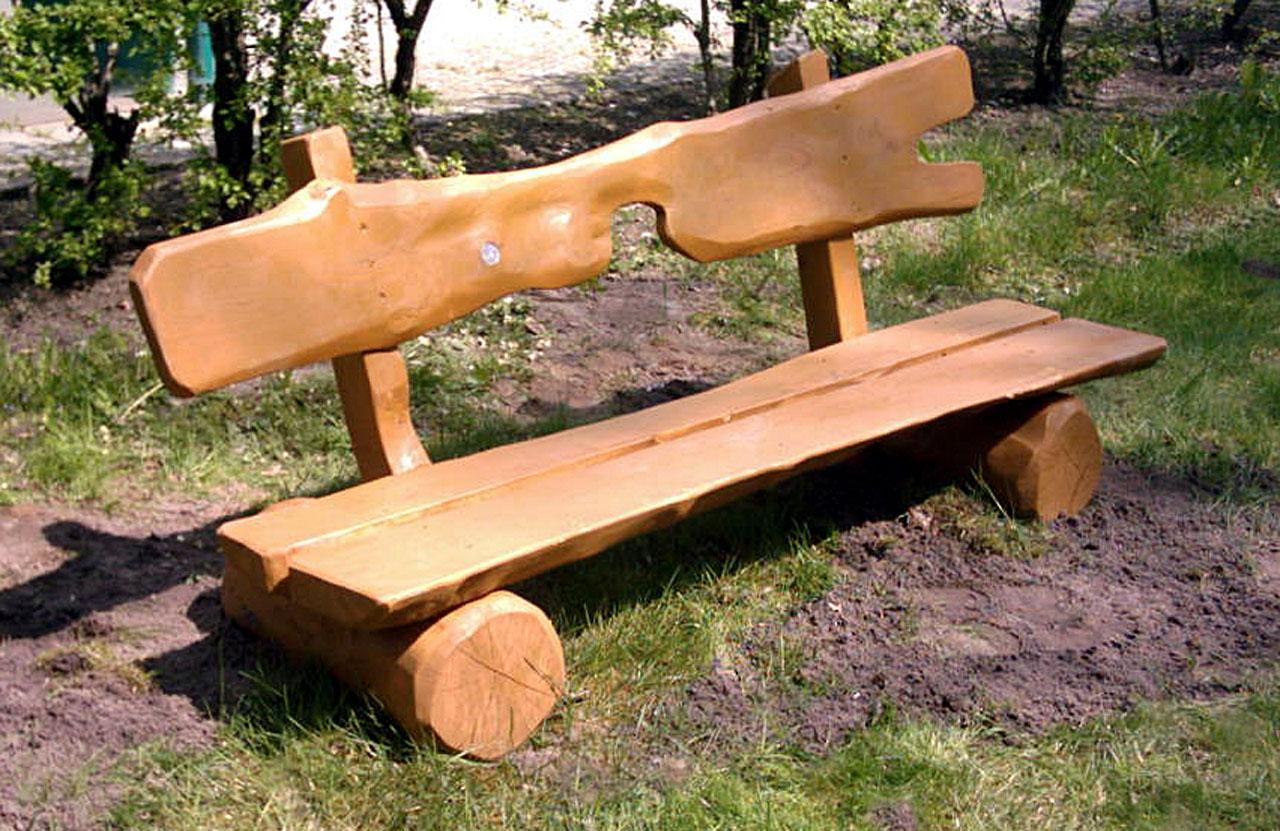 F 2-4 Bank Sitzbank Holz Robinie