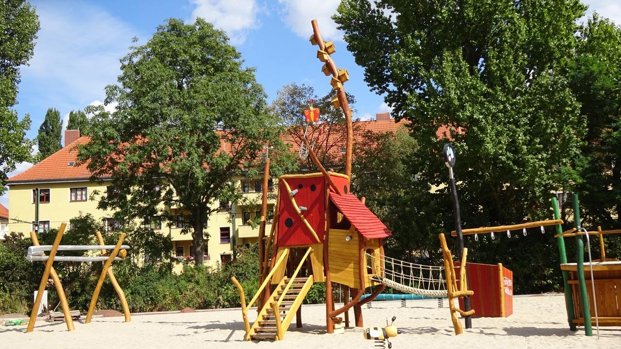 Forscherspielplatz, Robert-Mayer-Str., Magdeburg, Themenspielplatz Forscher