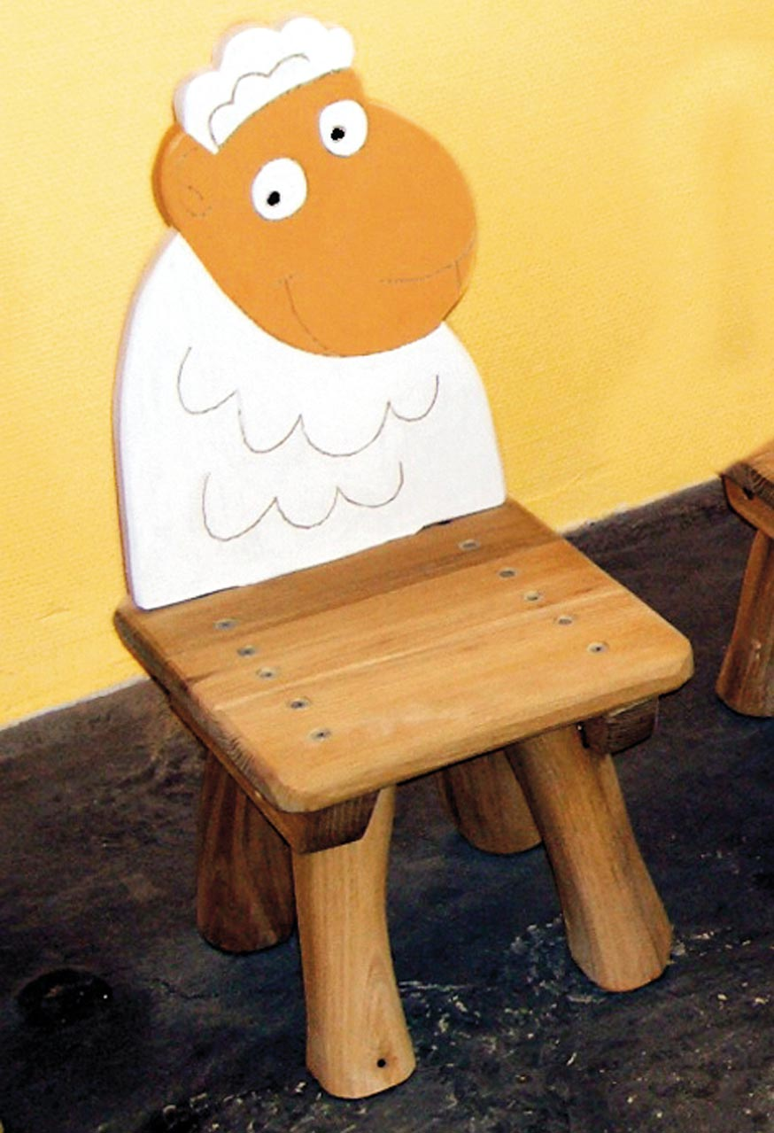 G 16 Stuhl Kinderstuhl Schaf