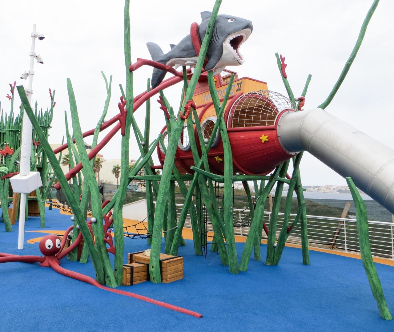 L 62 Themenspielplatz Nautilus und Krake