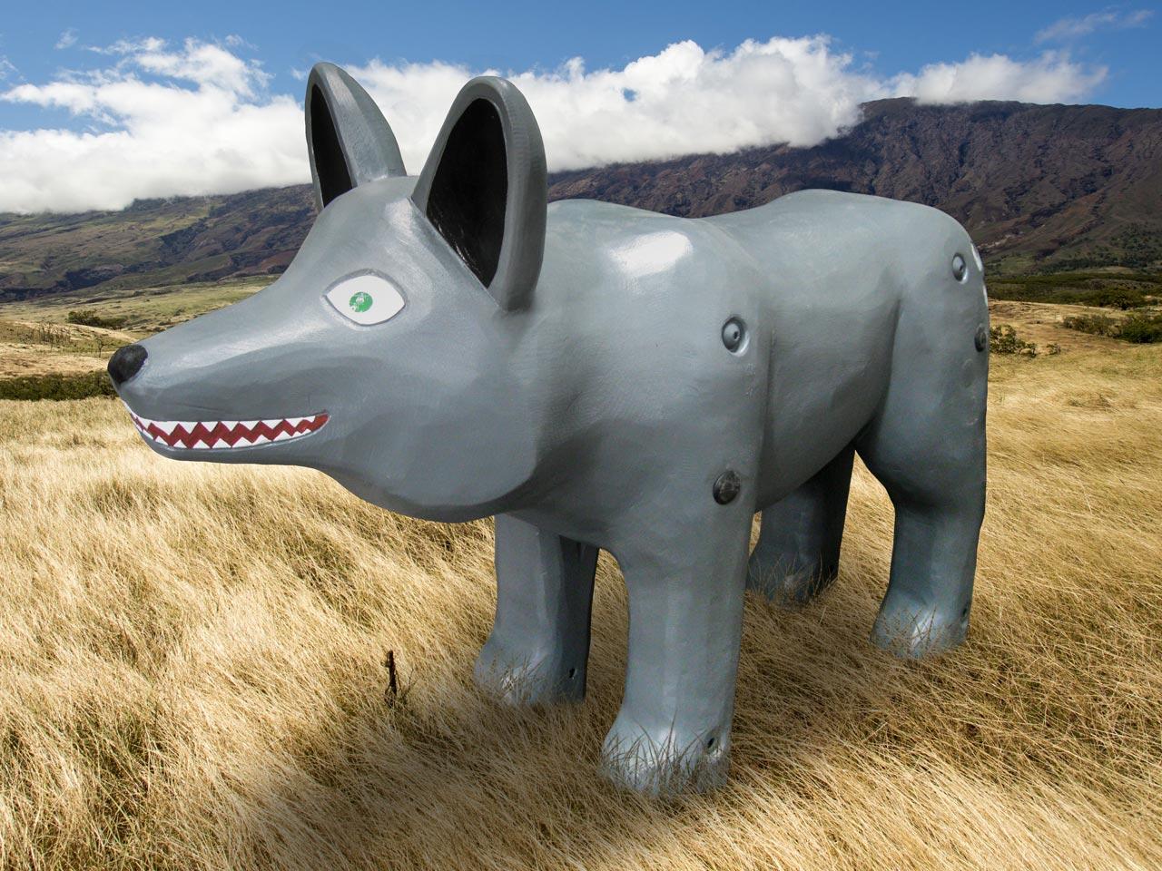 N 0-14 Skulptur Wolf