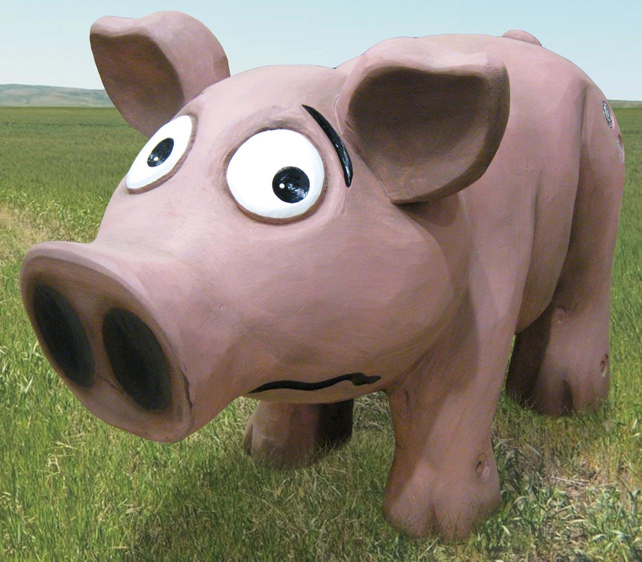 N 117 Skulptur ängstliches Schwein