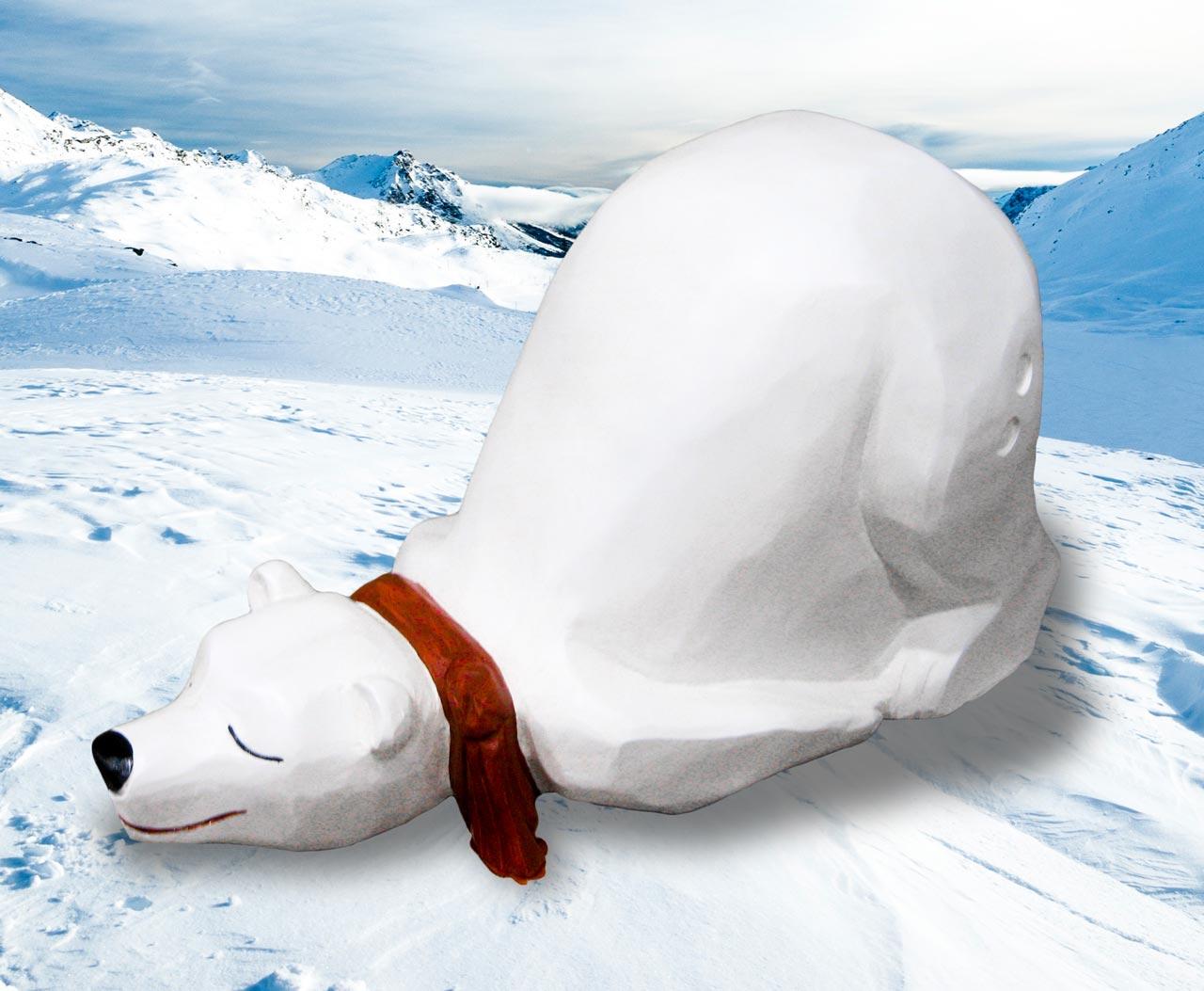 N 118 Skulptur schlafender Eisbär | Schlummernder Björn