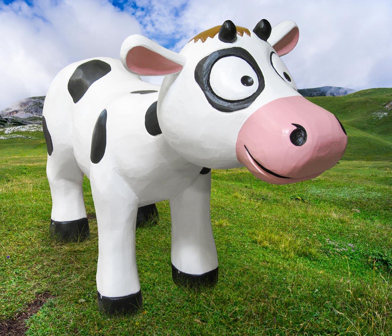 N 120 Skulptur Kuh Else