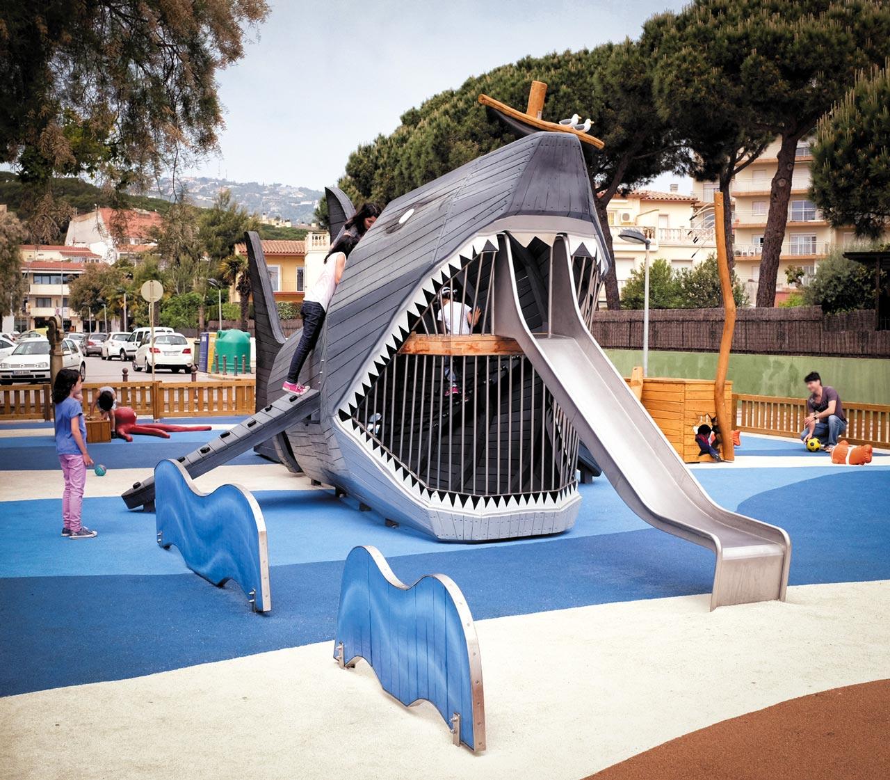 Spielplatz Haifisch, Girona, Spanien