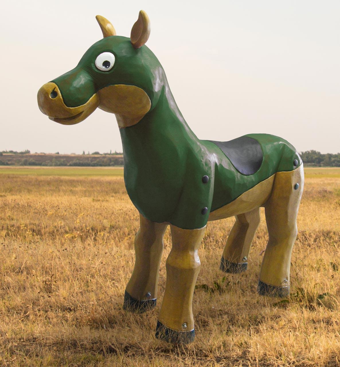 N 36 Skulptur Turnierpferd
