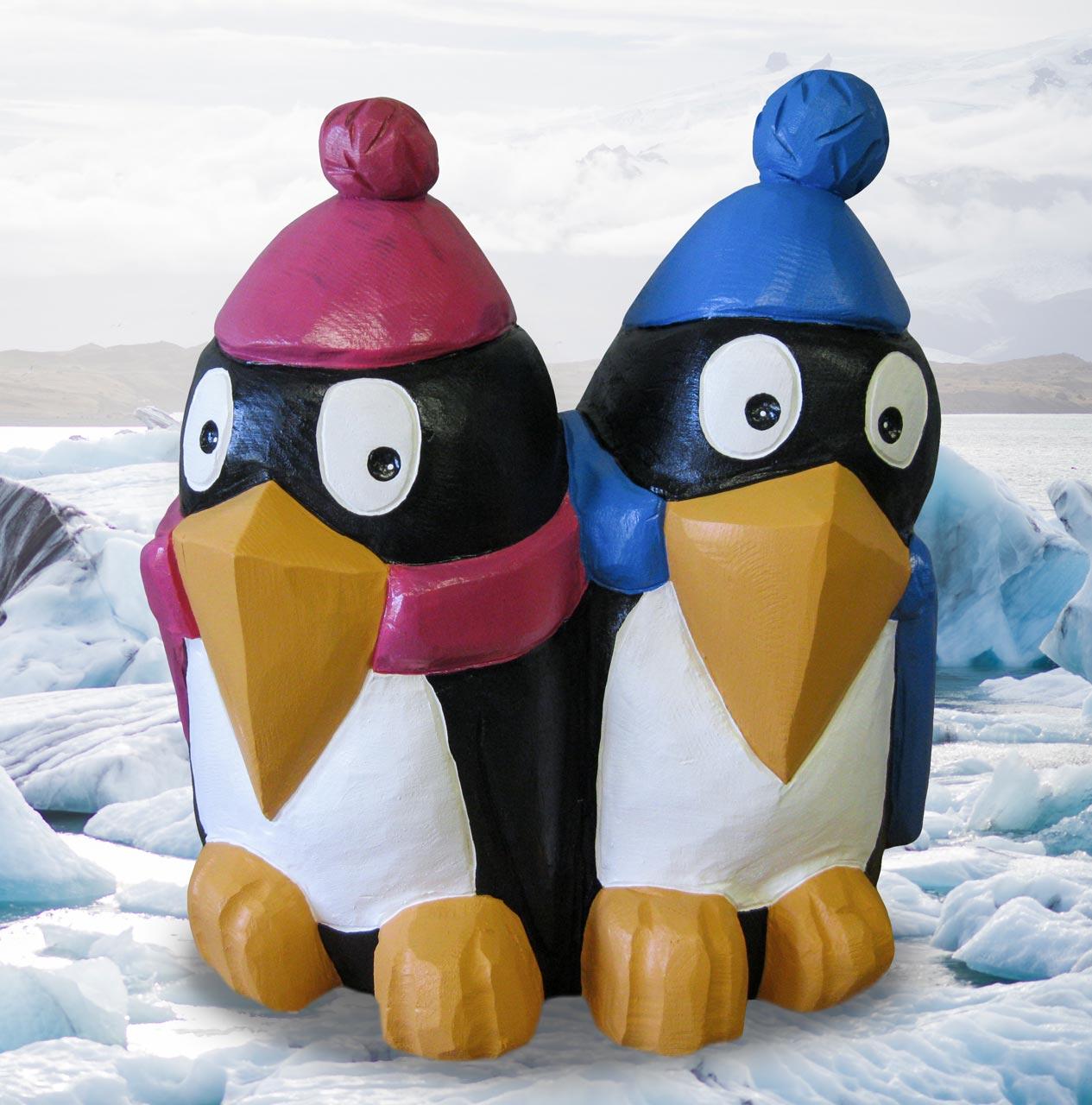 N 86 Skulptur Pinguine Pinguingeschwister