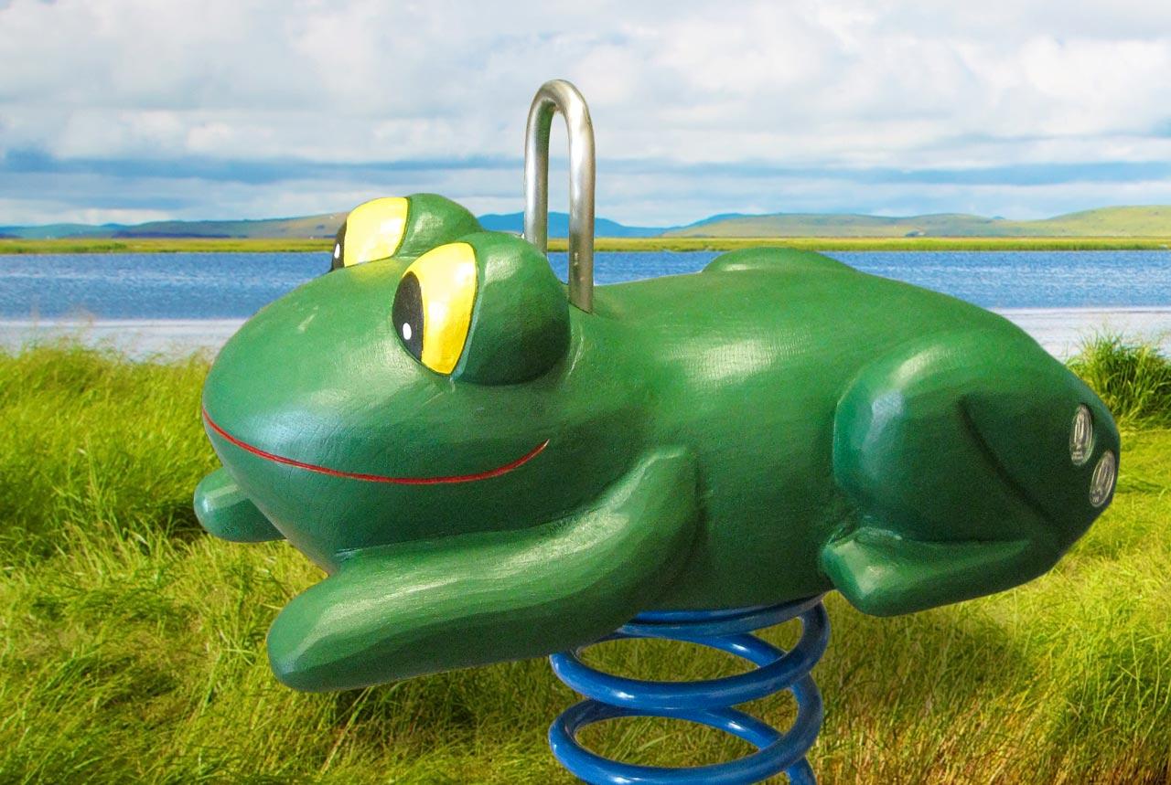 P 1-3 Federwipper Frosch | Wackelfrosch