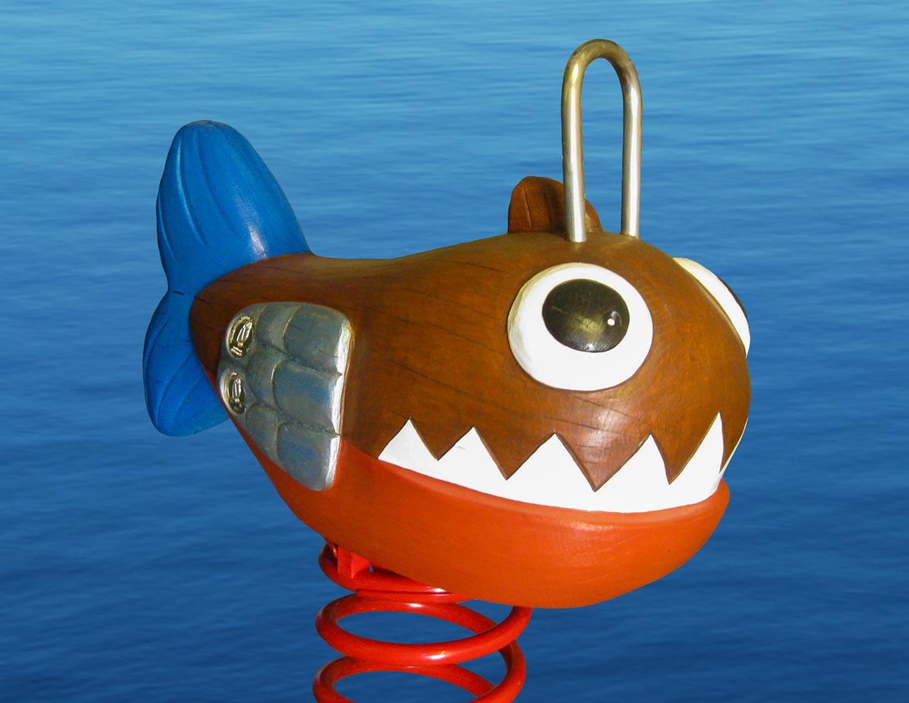 P 100 Federwipper Piranha | Wackelpiranha