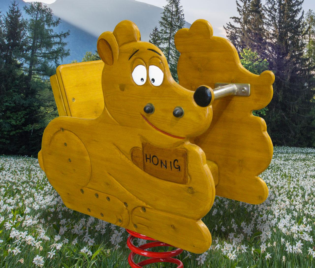 P 109 Federwipper Bär Honigbärchen | Wackelbärchen