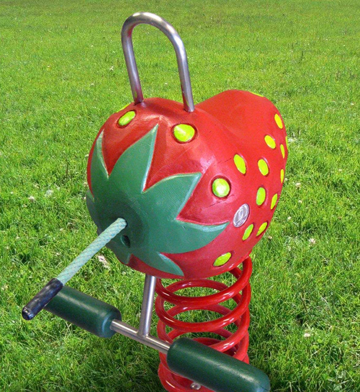 P 111 Federwipper Erdbeere | Wackelerdbeere