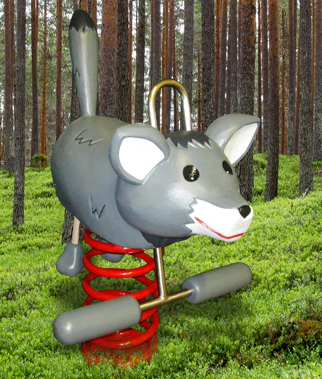 P 115 Federwipper Wolf | Wackelwolf