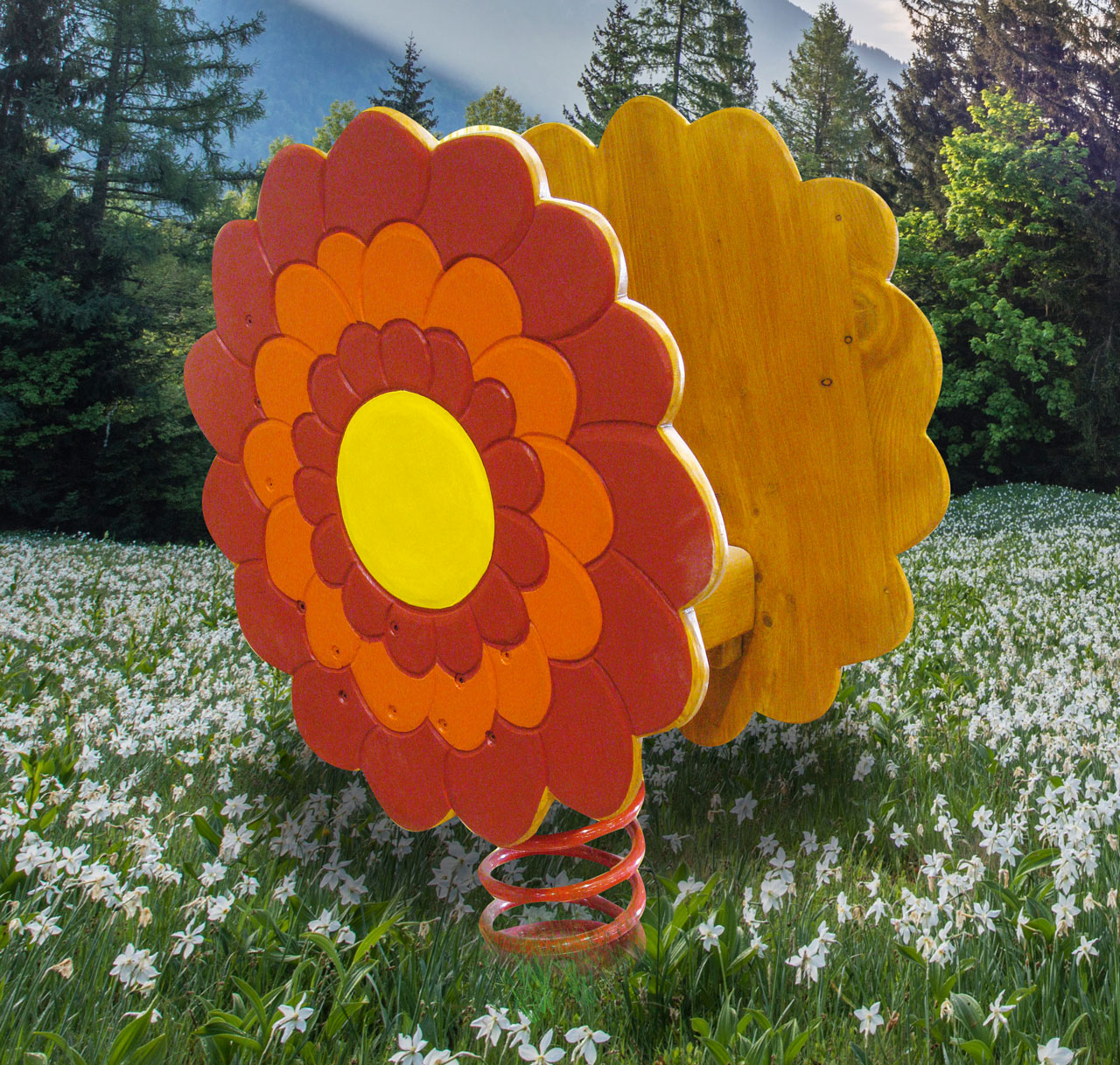 P 126 Federwipper Blume | Wackelblume