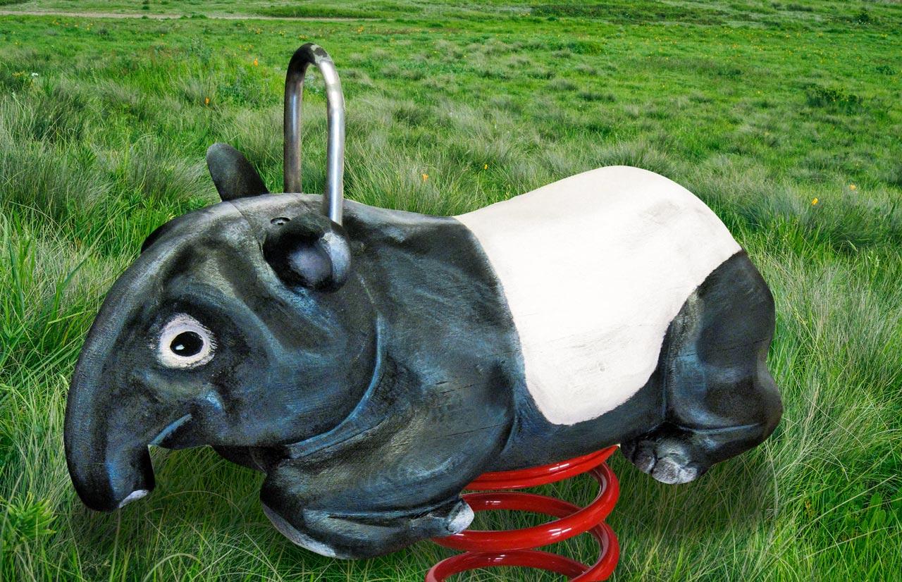 P 133 Federwipper Tapir | Wackeltapir