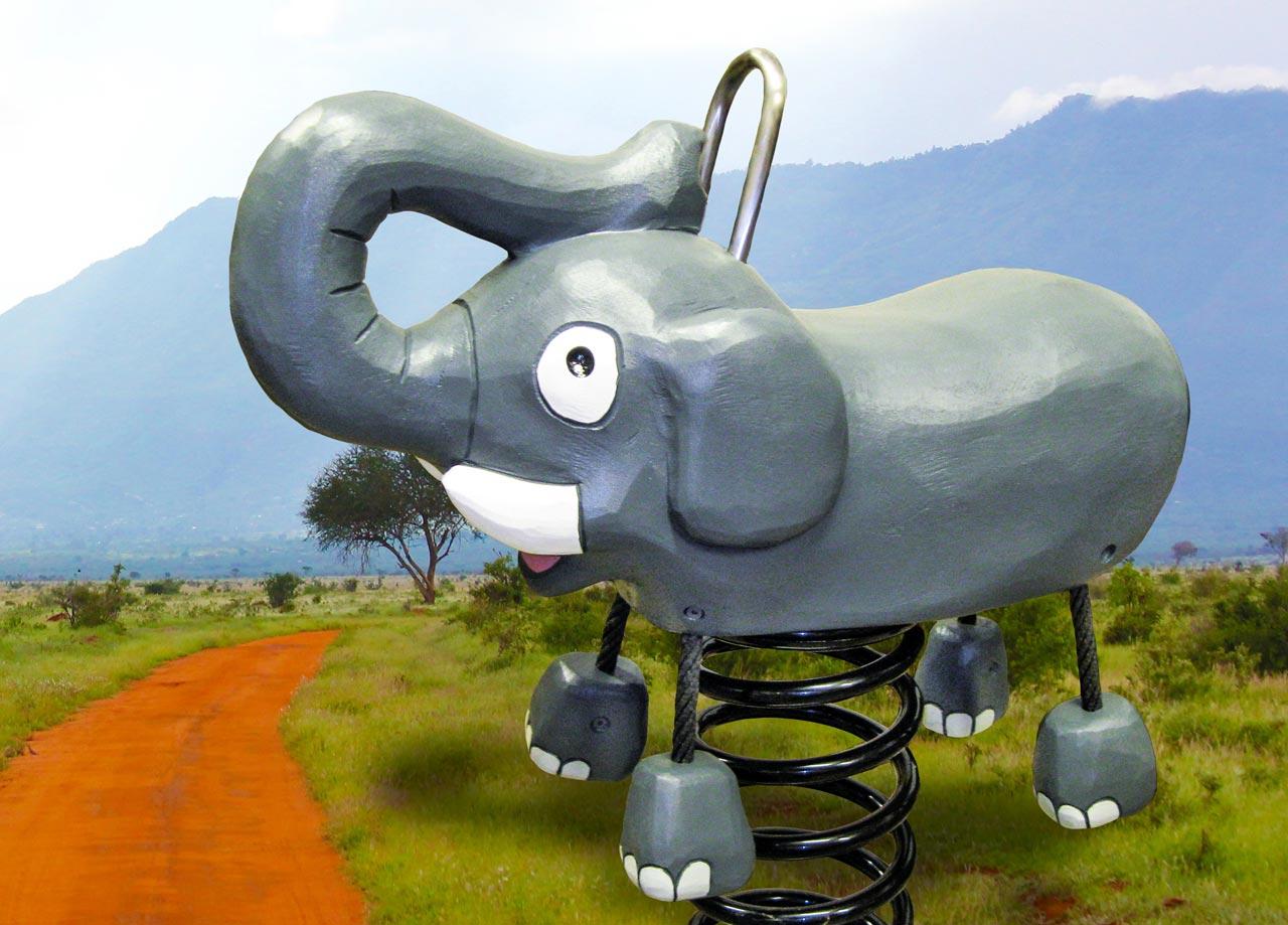 P 142 Federwipper Elefant | Wackelelefant