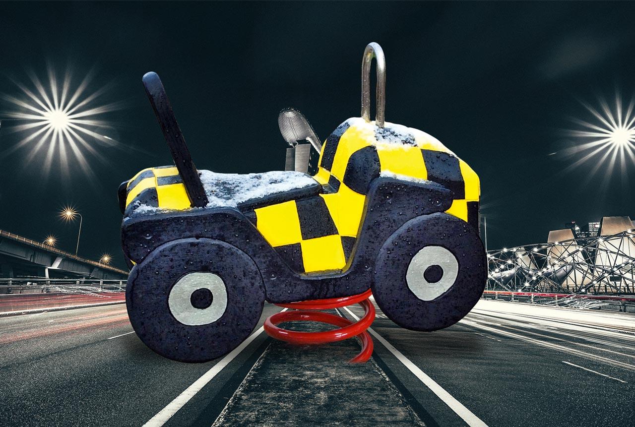 P 145 Federwipper Auto Safetycar | Wackelauto