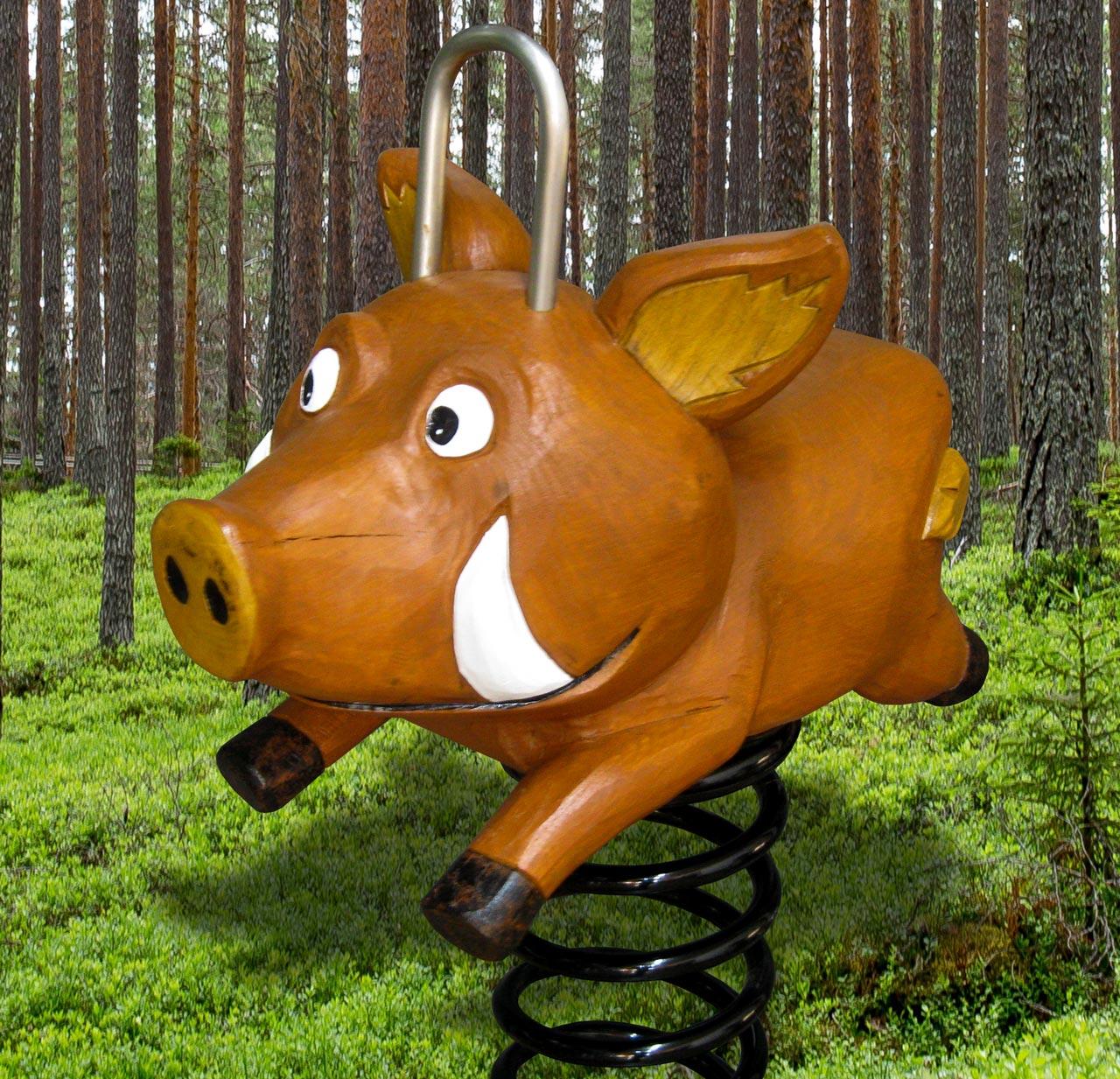 P 155 Federwipper Eber Wildschwein | Wackelwildschwein