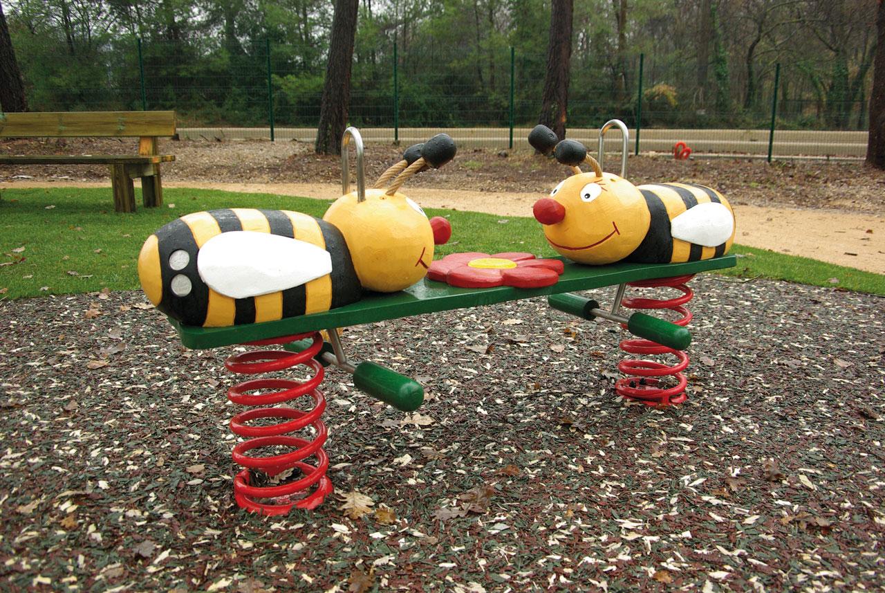 P 18 Federwipper Bienen Bienenglück | Wackelbienen