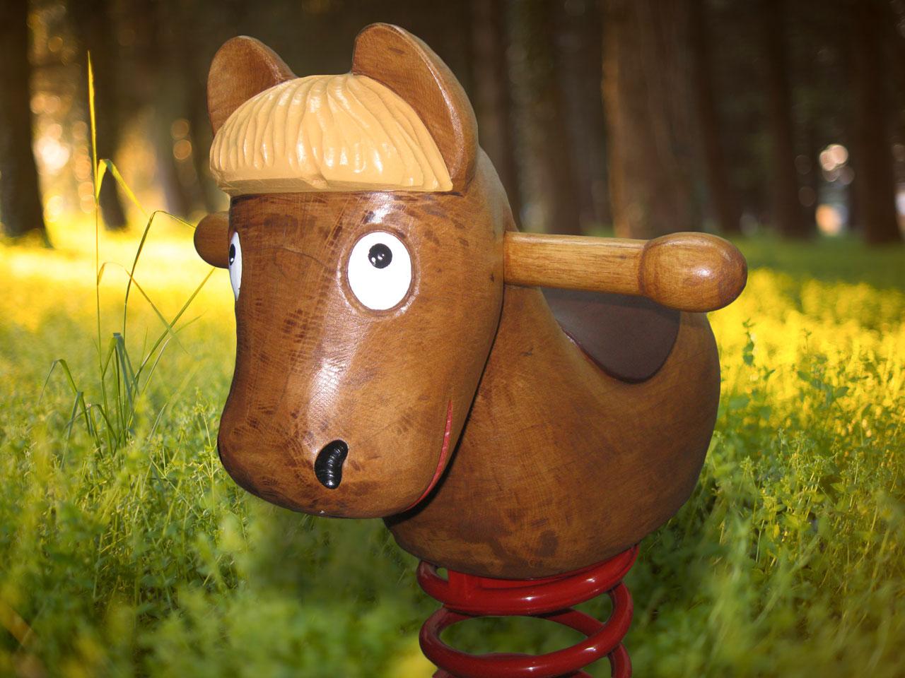 P 2-1 Federwipper Pferd | Wackelpferd