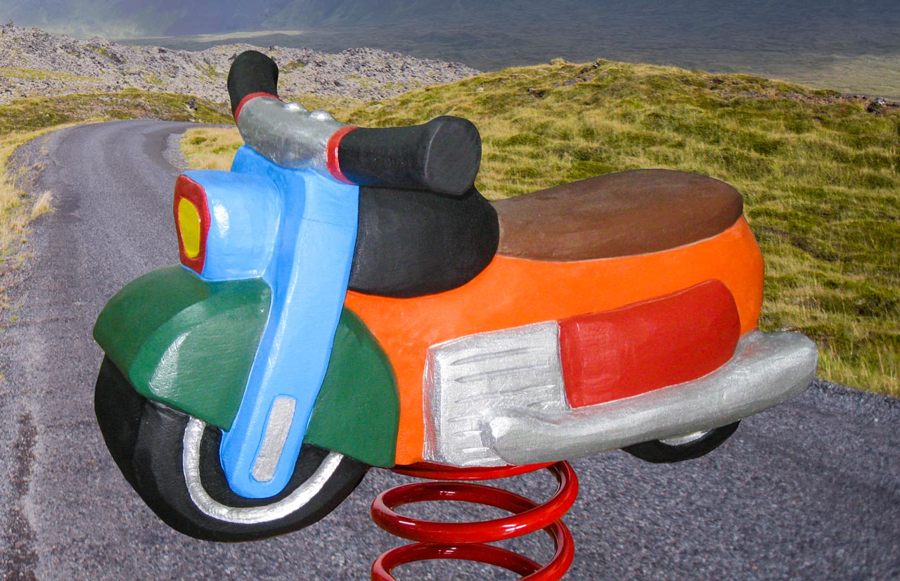 P 2-4 Federwipper Motorrad | Wackelmotorrad