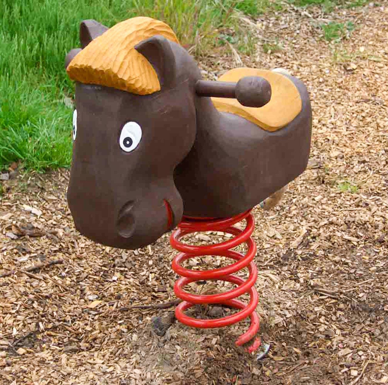 P 2-5 Federwipper Pferd | Wackelpferd