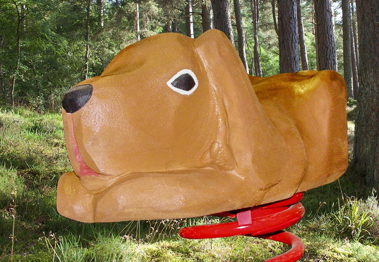 P 23 Federwipper Hund Jagdhund | Wackelhund