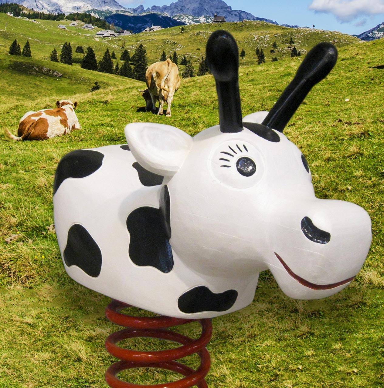 P 5-3 Federwipper Kuh | Wackelkuh
