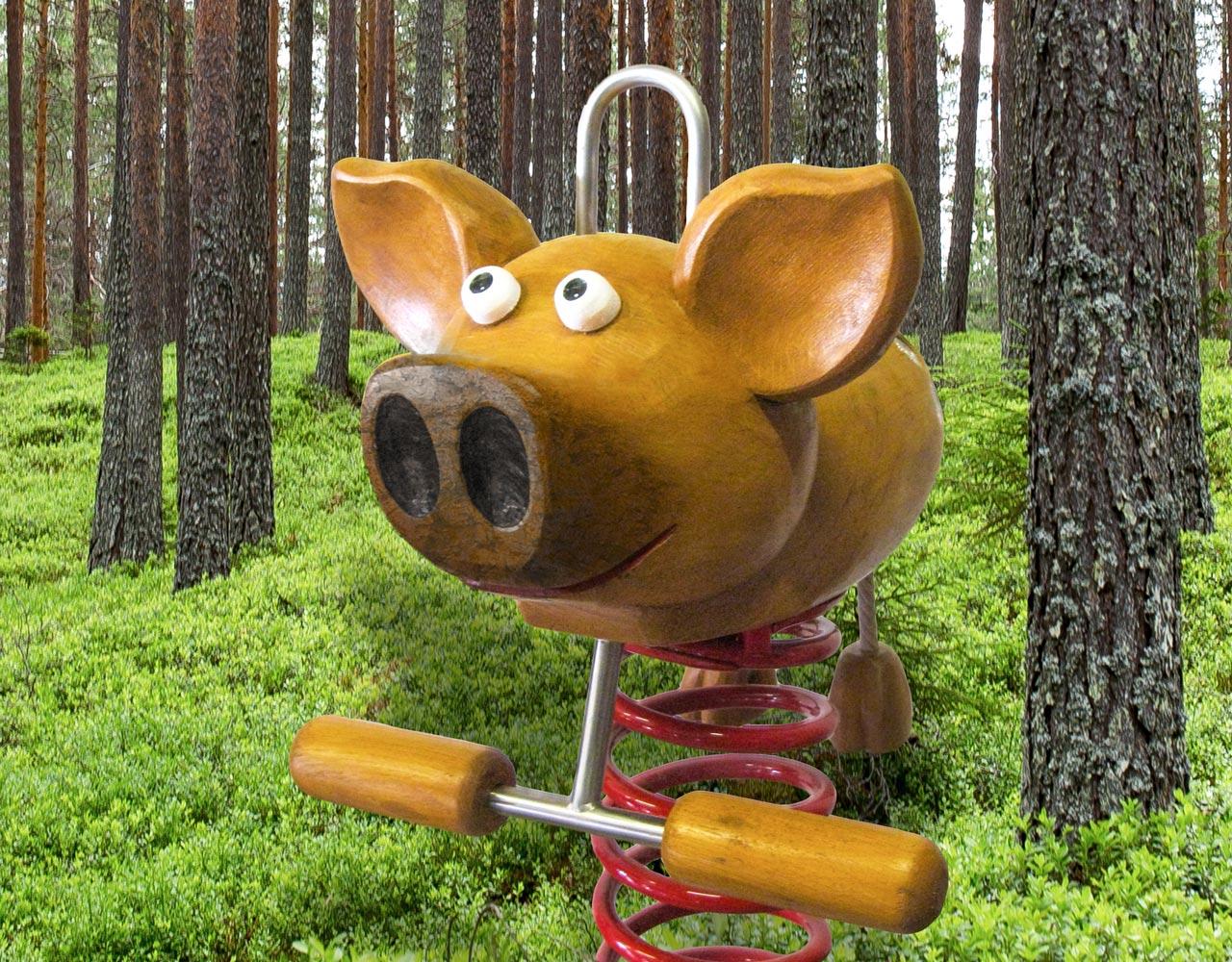 P 56 Federwipper Schwein Wilder Horst | Wackelschwein