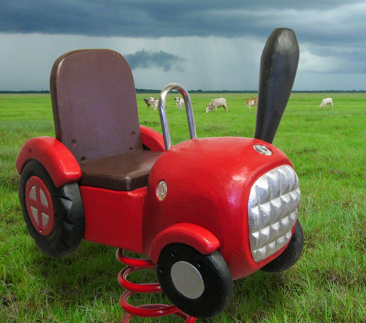 P 58 Federwipper Traktor | Wackeltraktor