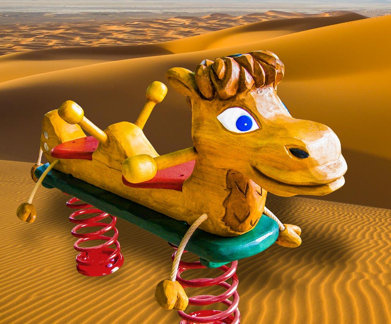 P 65 Federwipper Kamel | Wackelkamel