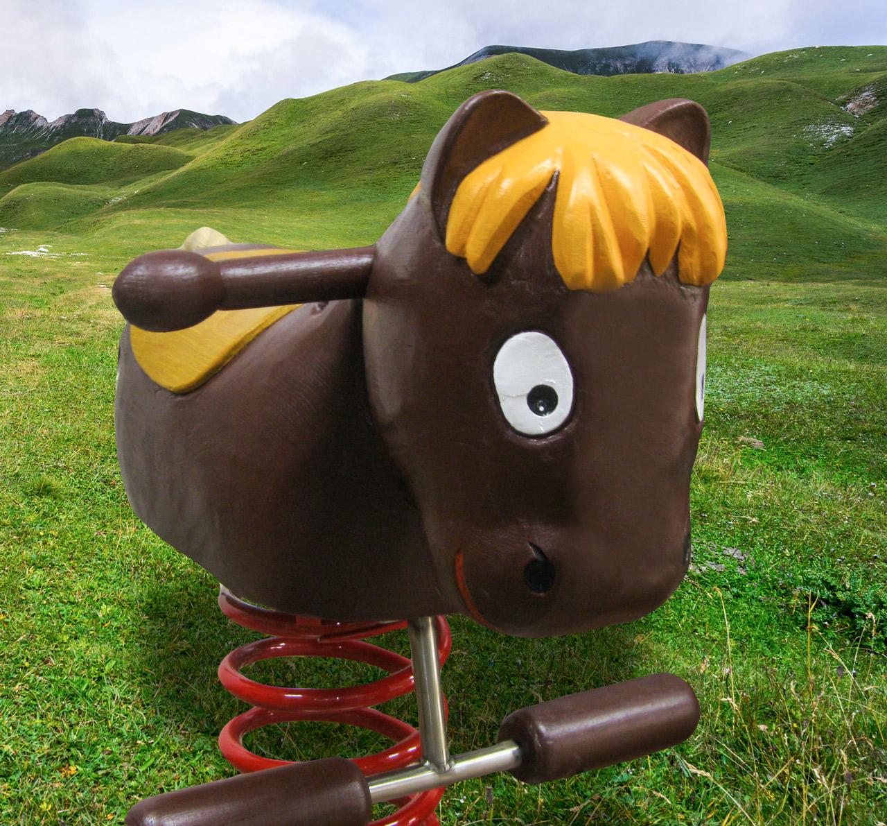P 67 Federwipper Pferd Gaul | Wackelgaul