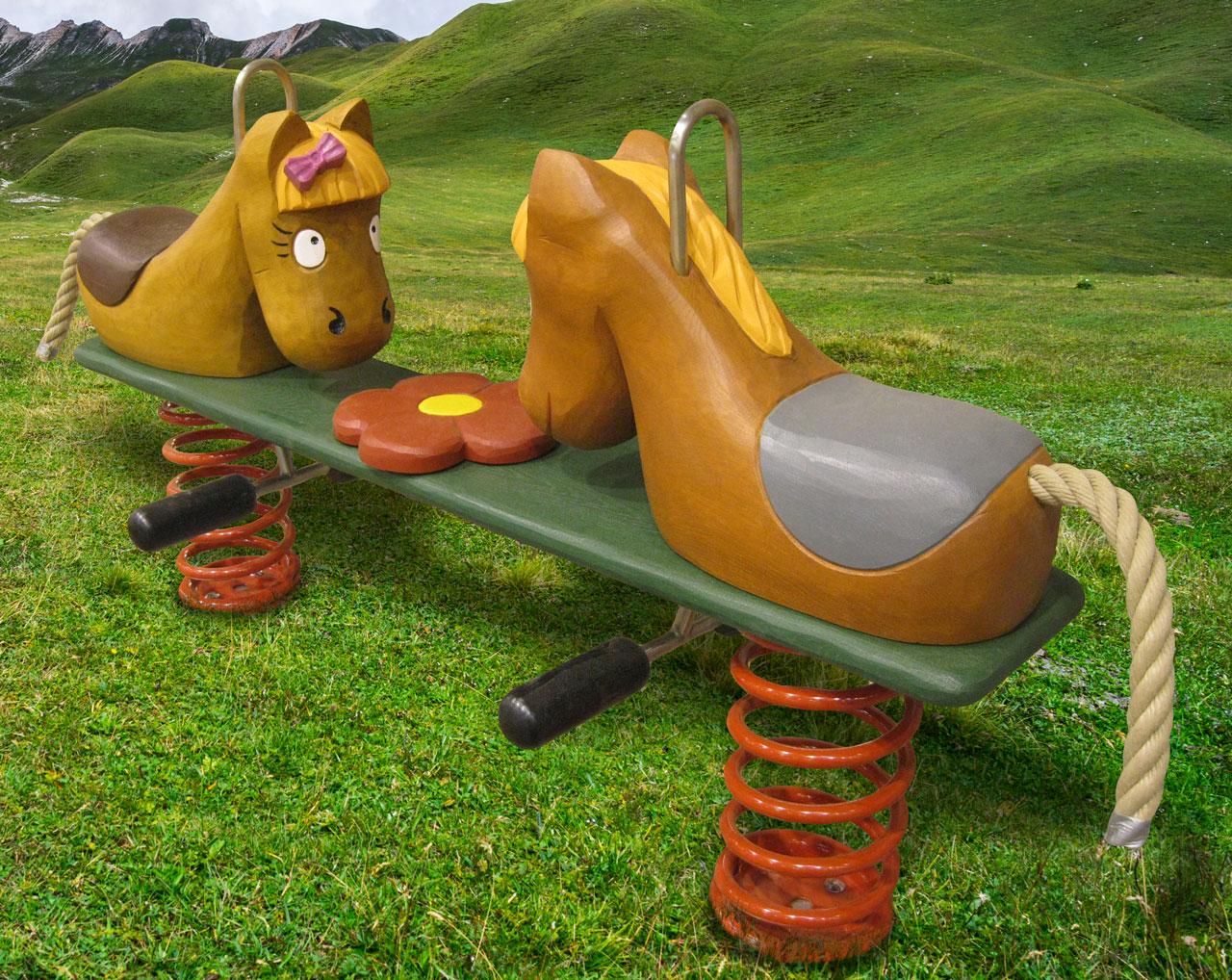 P 70 Federwipper Pferde Pferdeglück | Wackelpferde