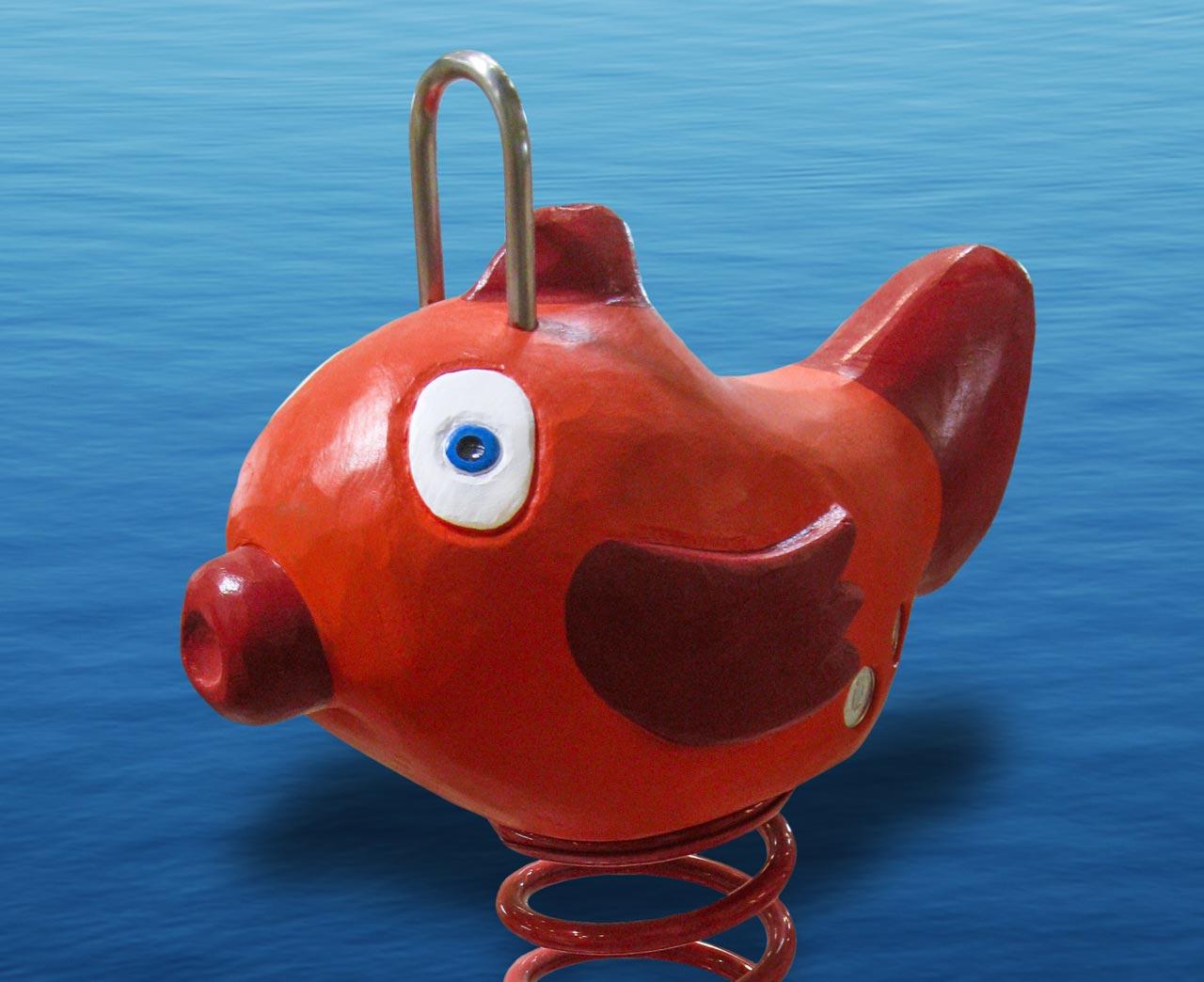 P 89 Federwipper Roter Fisch | Wackelfisch