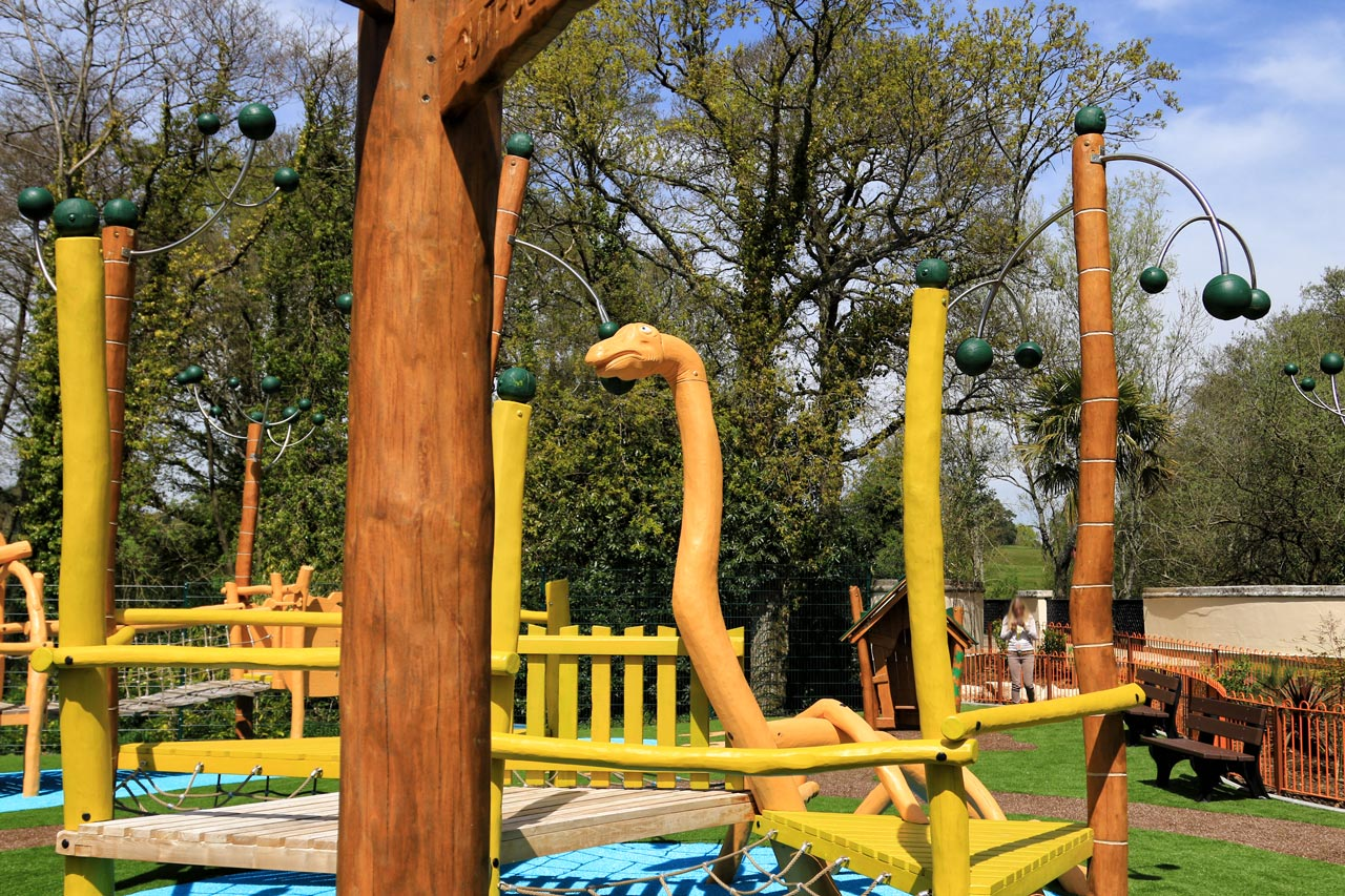 Paultons Park, UK, Themenspielplatz Dinosaurier