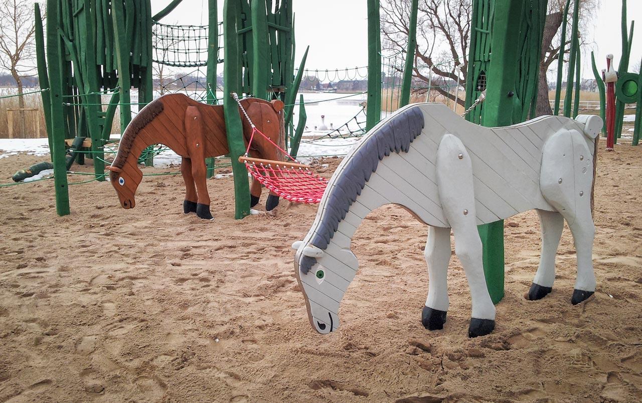 Q 46 Hängematte Pferde