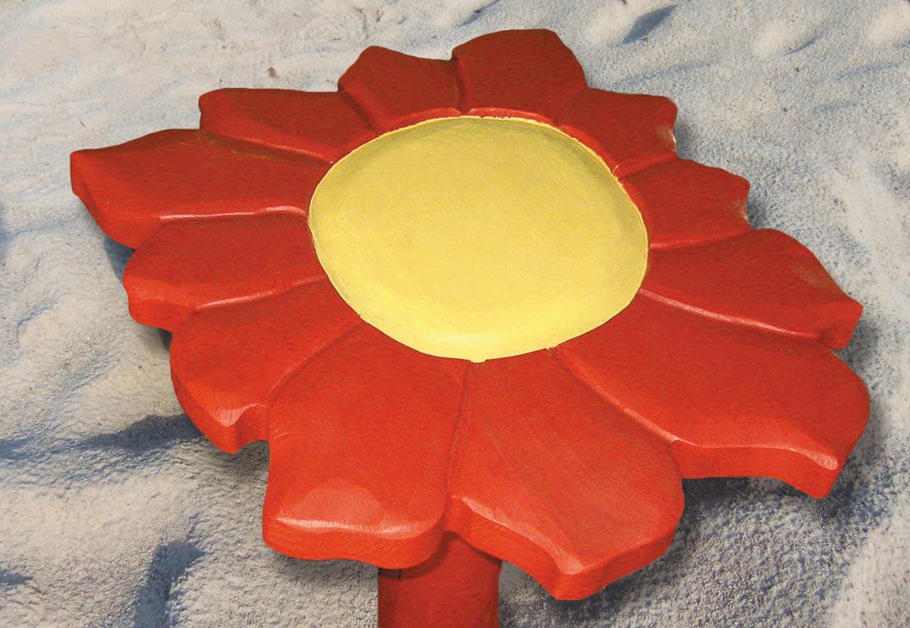 R 7a Backtisch Blume rot