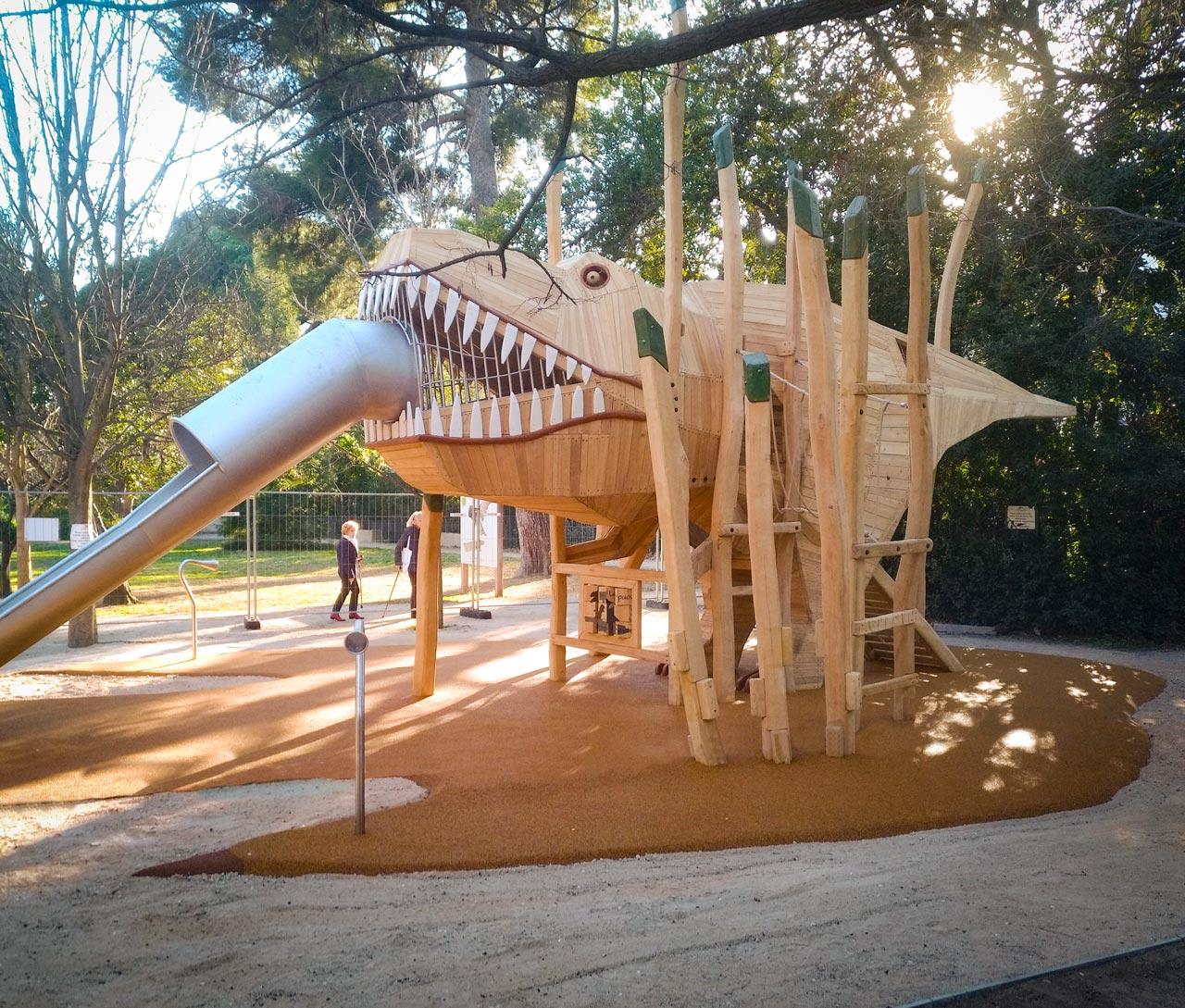Themenspielplatz T-Rex, Dinosaurier, Toulon, Frankreich