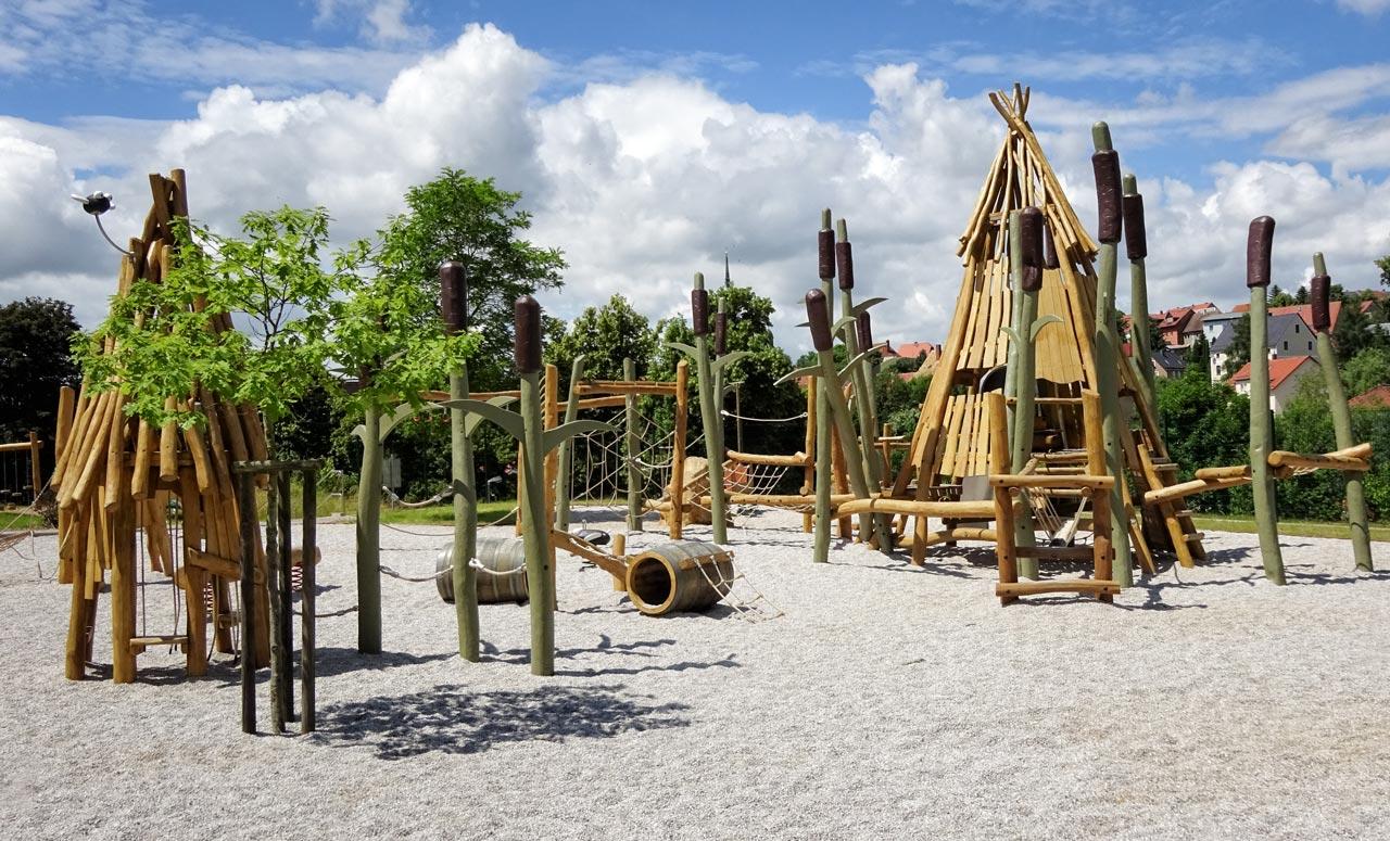 Schilfspielplatz, Uferstraße, Rosswein
